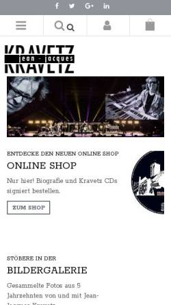Vorschau der mobilen Webseite www.kravetz.de, Jean-Jacques Kravetz