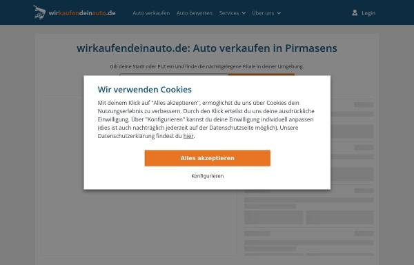 Vorschau von www.wirkaufendeinauto.de, Dein Pirmasens