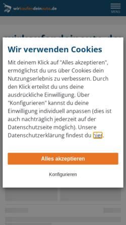 Vorschau der mobilen Webseite www.wirkaufendeinauto.de, Dein Pirmasens
