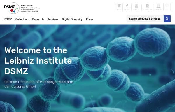 Vorschau von www.dsmz.de, Leibniz Institut DSMZ - Deutsche Sammlung von Mikroorganismen und Zellkulturen GmbH