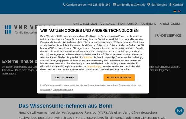 Vorschau von www.vnr.de, Verlag für die Deutsche Wirtschaft AG