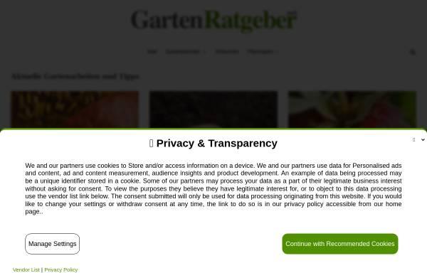 Vorschau von www.gartenratgeber.net, Gartenkalender