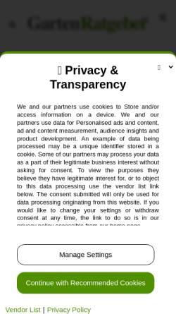 Vorschau der mobilen Webseite www.gartenratgeber.net, Gartenkalender