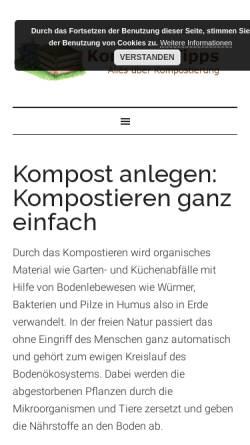 Vorschau der mobilen Webseite www.kompost-tipps.de, Kompost-Tipps