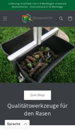 Vorschau der mobilen Webseite www.rasenspecht.de, WeBu Perfekterrasen GbR