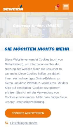 Vorschau der mobilen Webseite www.sewerin.com, Hermann Sewerin GmbH