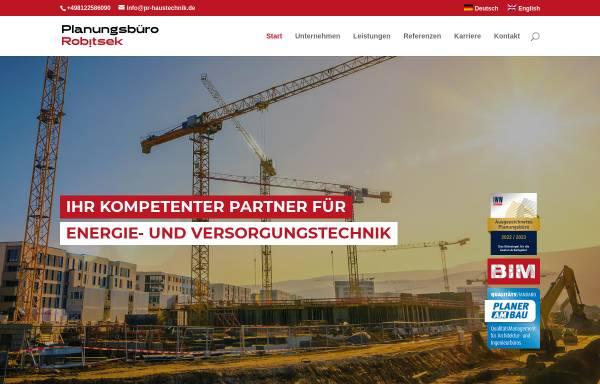 Vorschau von www.pr-haustechnik.de, Planungsbüro Robitsek
