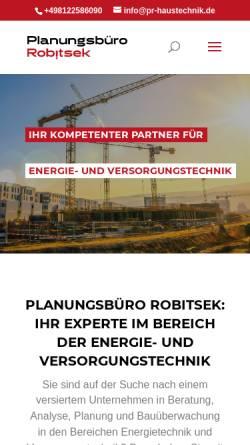 Vorschau der mobilen Webseite www.pr-haustechnik.de, Planungsbüro Robitsek