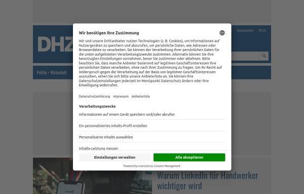 Vorschau von www.deutsche-handwerks-zeitung.de, Deutsche Handwerks Zeitung