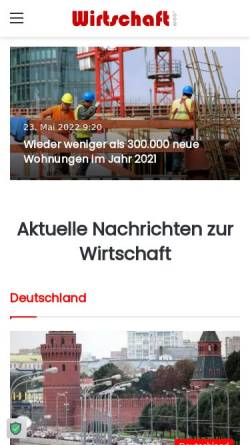 Vorschau der mobilen Webseite www.wirtschaft.com, Wirtschaft.com
