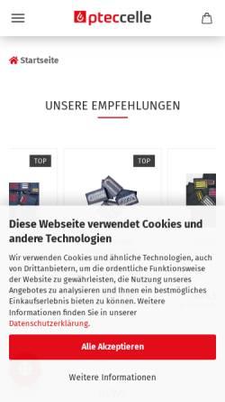 Vorschau der mobilen Webseite www.ptec-feuerwehrbedarf.de, P-tec Celle e.K.