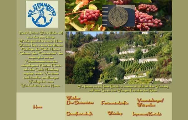 Vorschau von www.der-steinmeister.de, Weinbau - Der Steinmeister