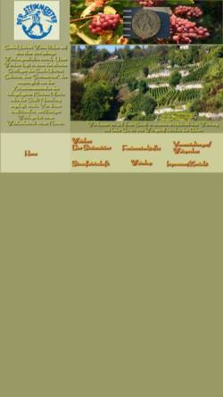 Vorschau der mobilen Webseite www.der-steinmeister.de, Weinbau - Der Steinmeister