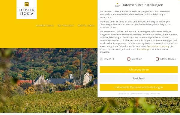 Vorschau von www.kloster-pforta.de, Landesweingut Kloster Pforta