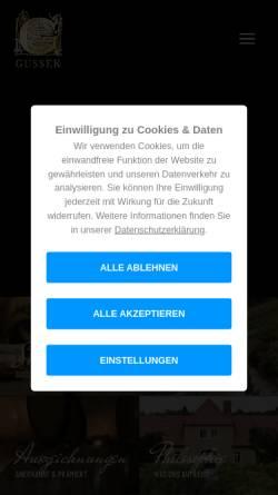 Vorschau der mobilen Webseite www.winzerhof-gussek.de, Winzerhof Gussek