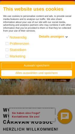 Vorschau der mobilen Webseite www.caravan-rossol.de, Caravan-Rossol GmbH