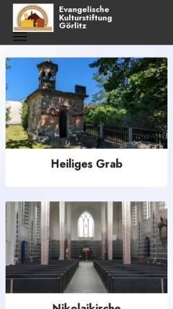Vorschau der mobilen Webseite www.evkulturstiftunggr.de, Heiliges Grab Görlitz