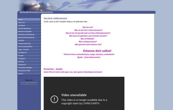 Vorschau von www.spiritualitaet-online.de, Spirituelle Dimension selbst erfahren.