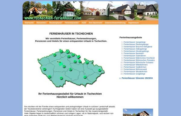 Vorschau von www.tschechien-ferienhaus.com, Tschechien-Ferienhaus.com