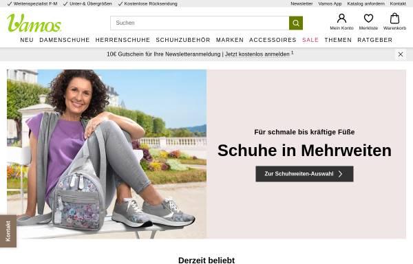 Vorschau von www.vamos-schuhe.de, Vamos, K-Mail Order GmbH & Co. KG