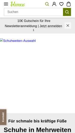 2c7fa05f7a1d49 ... Vorschau der mobilen Webseite www.vamos-schuhe.de
