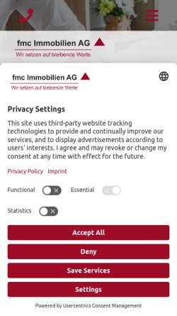 Vorschau der mobilen Webseite www.fmcag.de, Fmc Immobilien AG