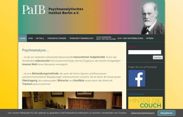 Vorschau von paib-dpg.de, Psychoanalytisches Institut Berlin e.V. (PaIB)
