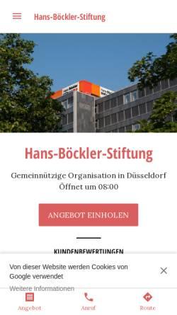 Vorschau der mobilen Webseite www.boeckler.de, Hans-Böckler-Stiftung