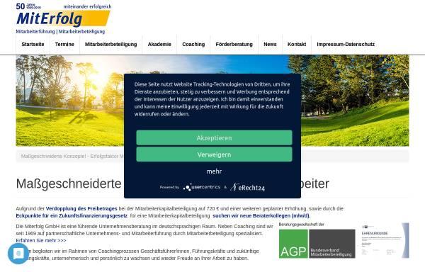 Vorschau von www.miterfolg.com, Miterfolg GmbH