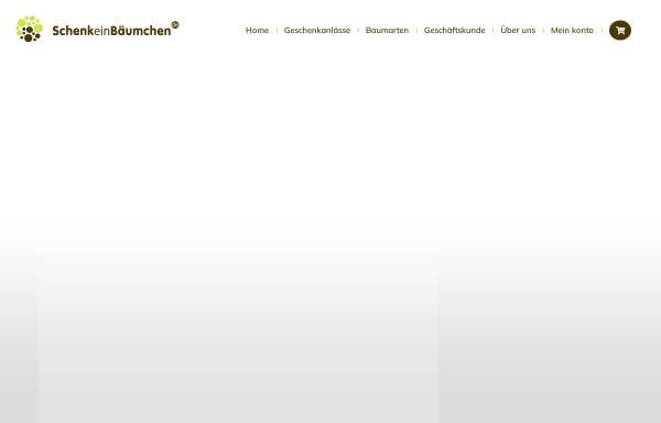 Vorschau von www.schenkeinbaeumchen.de, SchenkeinBäumchen.de
