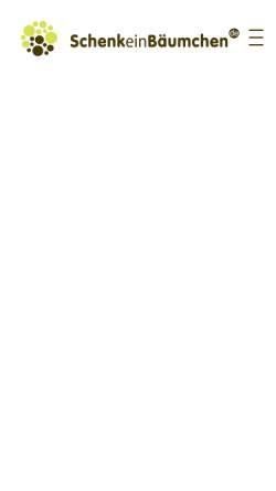 Vorschau der mobilen Webseite www.schenkeinbaeumchen.de, SchenkeinBäumchen.de