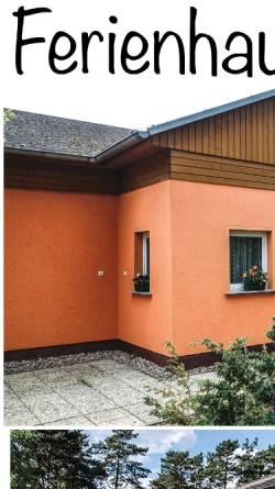 Vorschau der mobilen Webseite www.adamick.de, Ferienhaus Adamick