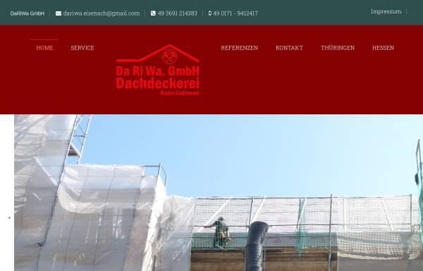 Vorschau von www.dachdecker-eisenach.de, DaRiWa GmbH - Dachdeckerei Kuno Gutmann