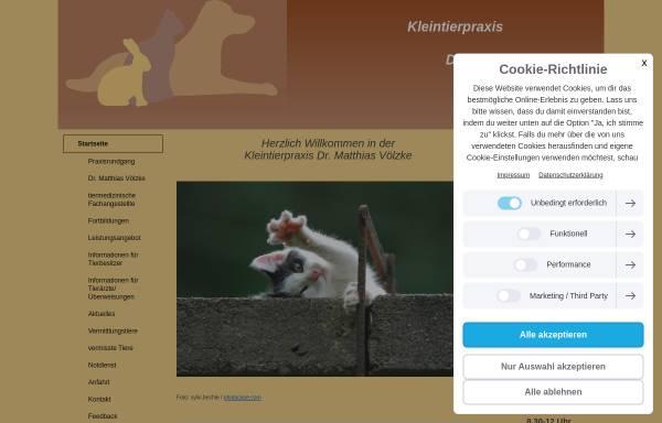 Vorschau von www.kleintierpraxis-voelzke.de, Kleintierpraxis Dr. Matthias Völzke