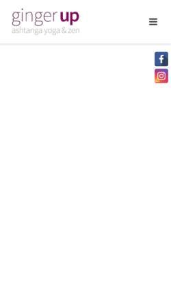 Vorschau der mobilen Webseite www.gingerup.de, Ginger Up Yogastudio