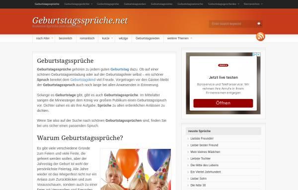 Vorschau von xn--geburtstagssprche-g3b.net, Geburtstagssprüche
