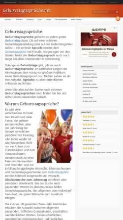 Vorschau der mobilen Webseite xn--geburtstagssprche-g3b.net, Geburtstagssprüche