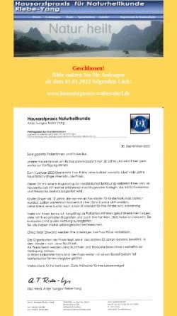 Vorschau der mobilen Webseite www.praxis-riebe-yang.de, Dipl. med. Antje Riebe-Yang, Hausarztpraxis