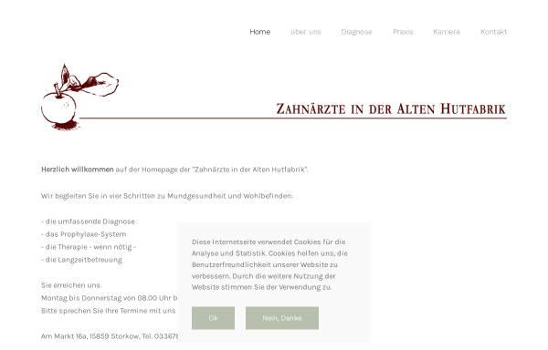 Vorschau von www.zap-ll.de, Zahnärzte in der Alten Hutfabrik