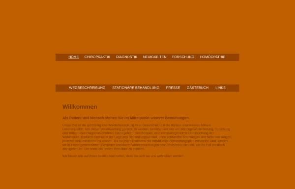 Vorschau von chiro-online.de, Haus der Chiropraktik Seeblick