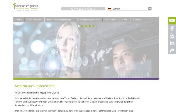 Vorschau von www.medizin-im-gruenen.de, Medizin im Grünen, Medizinisches Kompetenzzentrum