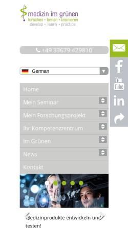 Vorschau der mobilen Webseite www.medizin-im-gruenen.de, Medizin im Grünen, Medizinisches Kompetenzzentrum