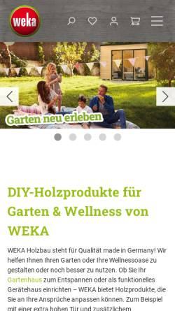 Vorschau der mobilen Webseite www.weka-holzbau.com, WEKA Holzbau GmbH