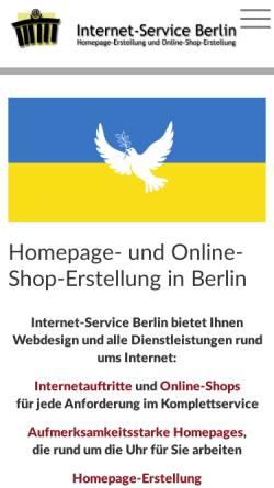 Vorschau der mobilen Webseite www.internet-service-berlin.de, Internet-Service Berlin, Jochen Skibbe