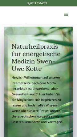 Vorschau der mobilen Webseite www.naturheilpraxis-kotte.de, Swen-Uwe Kotte