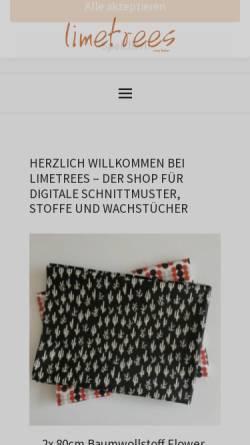 Vorschau der mobilen Webseite www.limetrees.de, Limetrees - Inh. Bianca Brandau