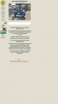 Vorschau der mobilen Webseite www.springer-rollerfreunde.net, Springer-Rollerfreunde
