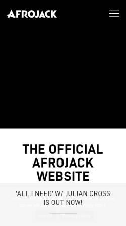 Vorschau der mobilen Webseite www.afrojack.com, Afrojack
