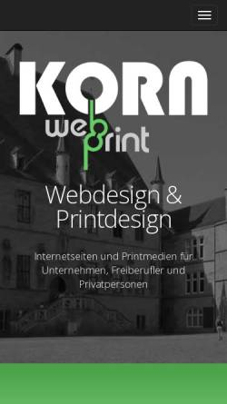 Vorschau der mobilen Webseite www.webdesign-korn.de, Webdesign Korn, Holger Korn
