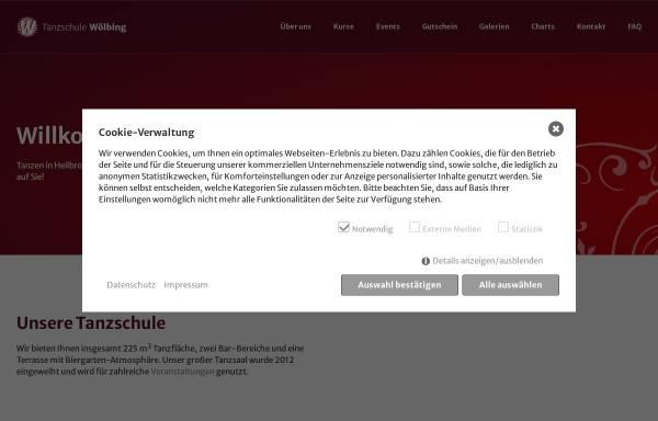 Vorschau von www.tanzschule-woelbing.de, Tanzschule Wölbing
